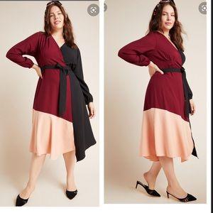 NWT Anthropologie Rashida colorblocked dress